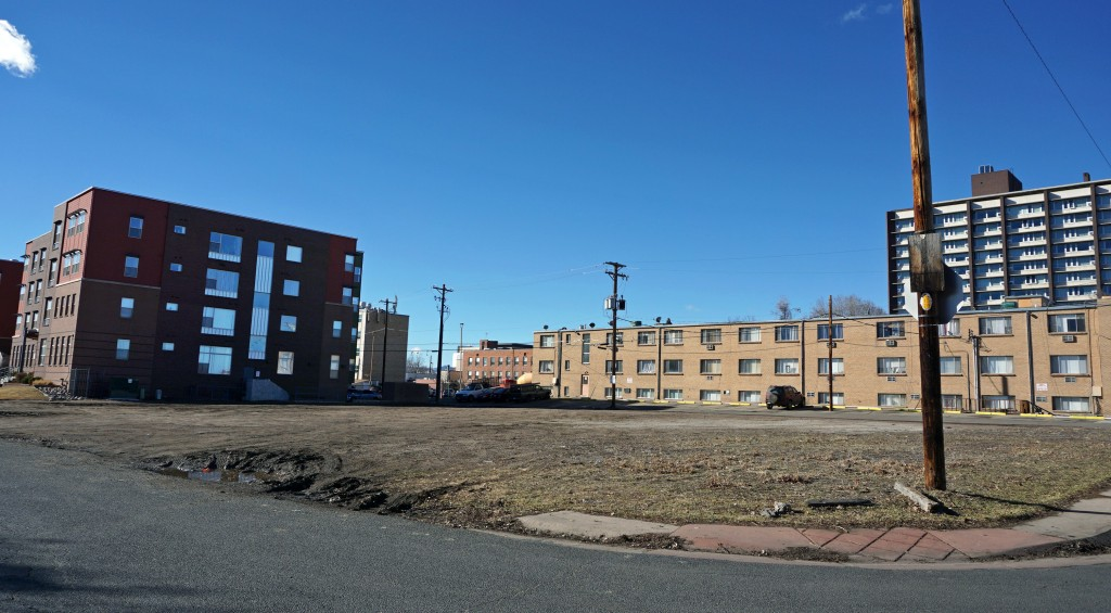 A lot at 16th Avenue and Wolff Street has been cleared for more townhomes. Photo by Burl Rolett.
