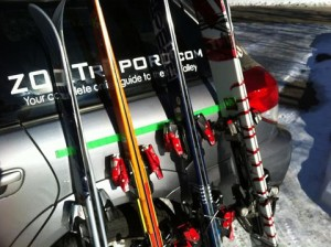 Pitto's Ski Bumper device is now sold at Christy Sports and online.