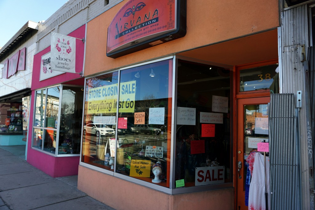 A longtime retailer is closing down on Broadway. Photos by Burl Rolett.