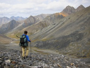 Skurka, pictured in the National Wildlife Reserve in Brooks Range, Alaska, will consult with Sierra Designs on gear.
