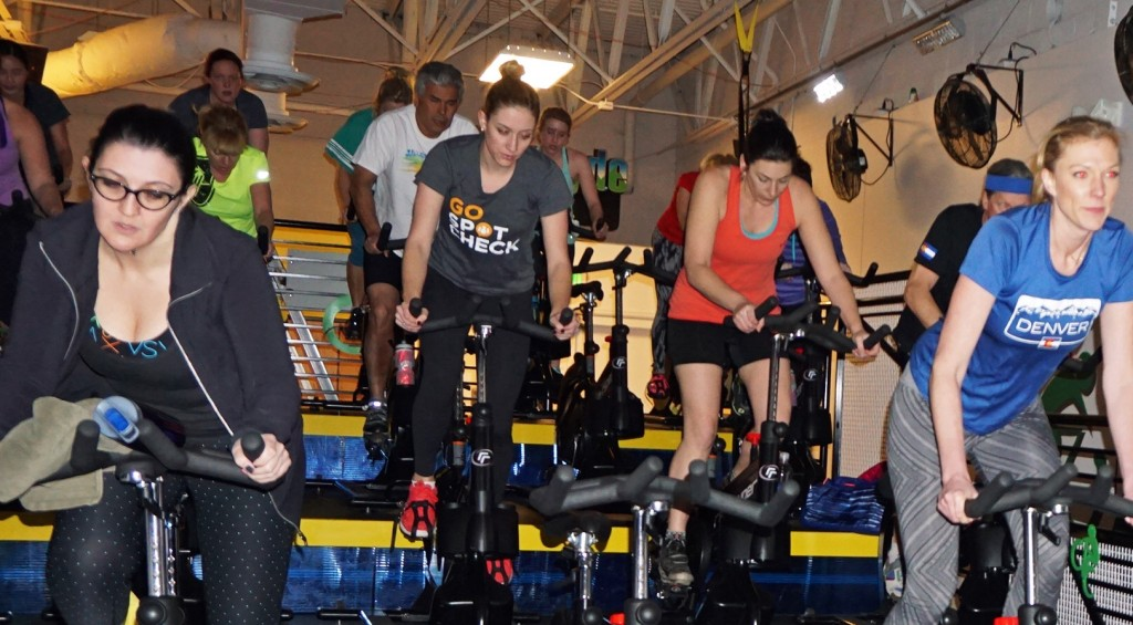 Riders participate in a class at Epic Ryde. Photos by Burl Rolett.