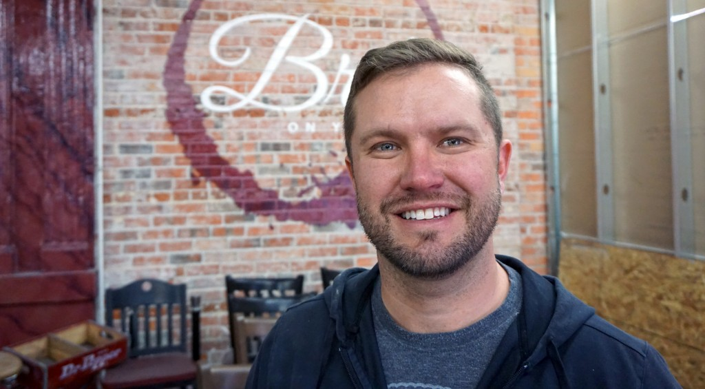 Travis Gee is opening his wine bar and restaurant in April. Photos by Burl Rolett.