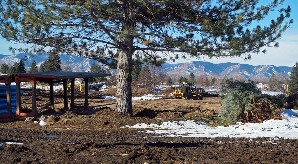 Work is underway on the former Green Gables County Club. Photos by Burl Rolett.