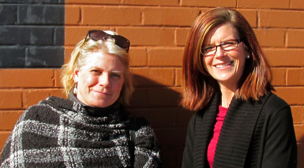 Life on Capitol Hill Publisher Hilleary Waters (left) and Shanna Taylor, the publication's new owner. Photo by Aaron Kremer.