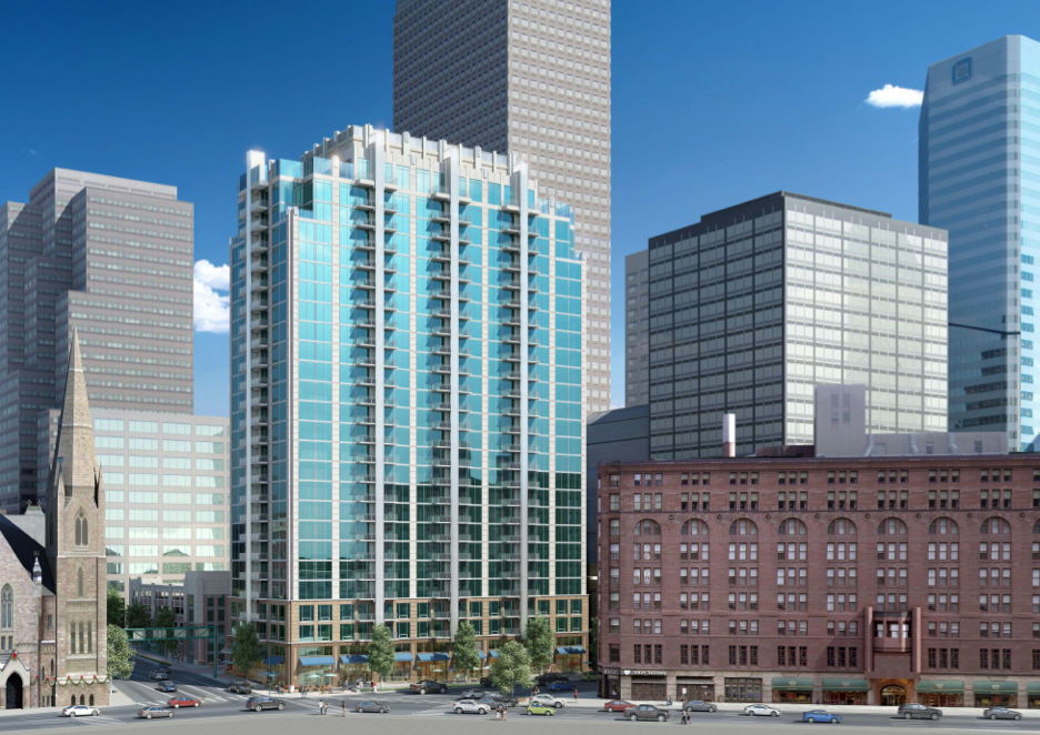 A 24-story apartment building is planned for downtown. Rendering courtesy of Novare Group.