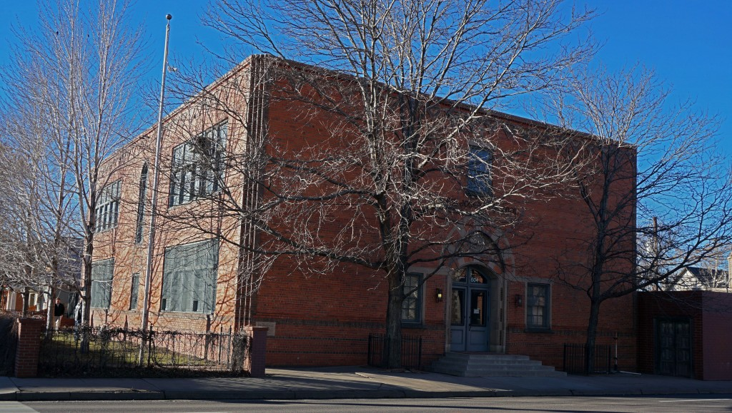 An old school building is under new ownership by an advertising firm. Photos by Burl Rolett.