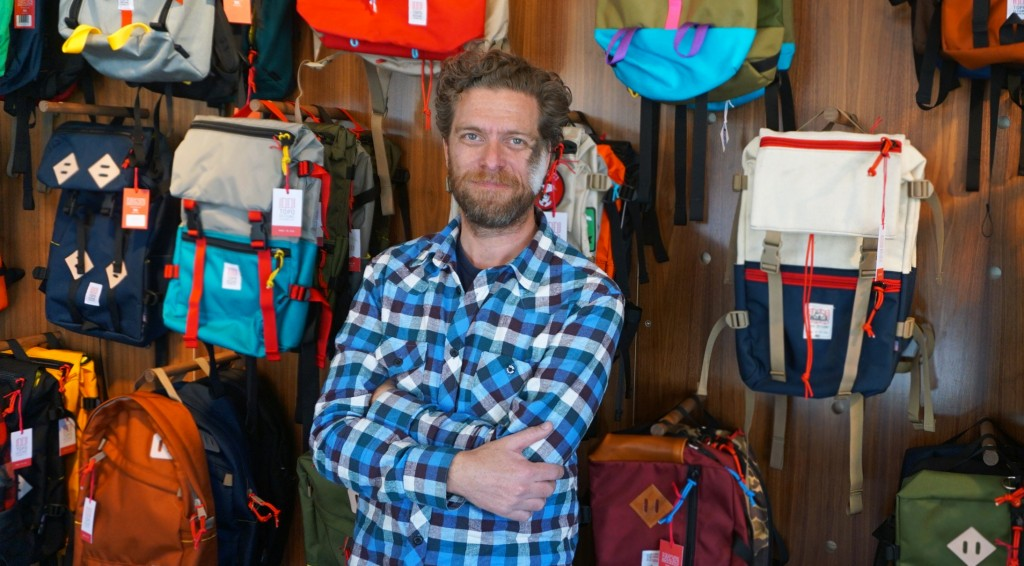 Topo Designs, co-owned by Mark Hansen (above) and Jedd Rose, is expanding into a new store and a major retailer. Photos by George Demopoulos.