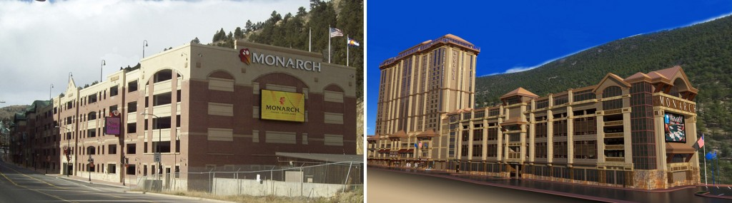 The Monarch Casino (pictured left) has nine-figure plans to upgrade its facilities and add a hotel tower. Images courtesy of Monarch Casino