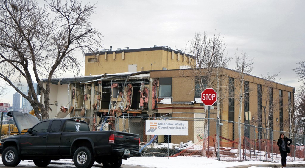 The building at 28th Avenue and Wyandot is coming down