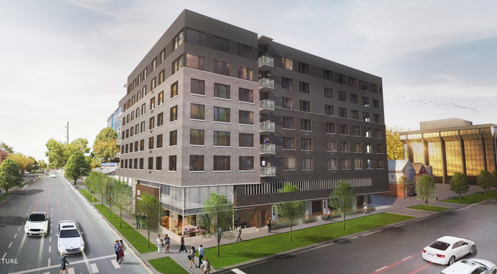 A developer has a new apartment building in the works in Cap Hill. Rendering courtesy of Craine.