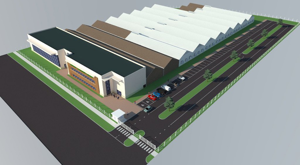 AmeriCann's working design for the Illinois facility. Image courtesy of AmeriCann.