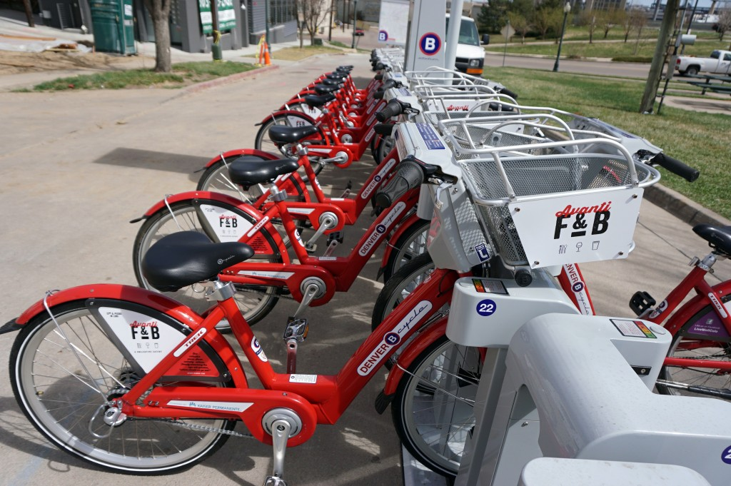 A 30-bike B-Cycle station has been installed near an upcoming restaurant development. Photos by George Demopoulos.