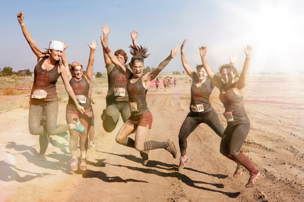 A Bold Betties group participates in a 5k mud run. Photos courtesy of Bold Betties.