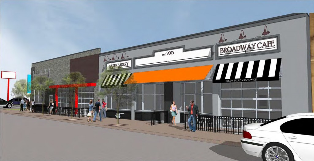 The former site of a Family Dollar is set to be redeveloped for retail and restaurant use. Rendering courtesy of