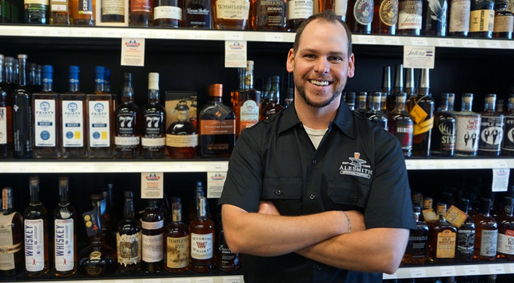 Kyle Moyer is expanding his liquor store business into a restaurant and bar. Photos by George Demopoulos.