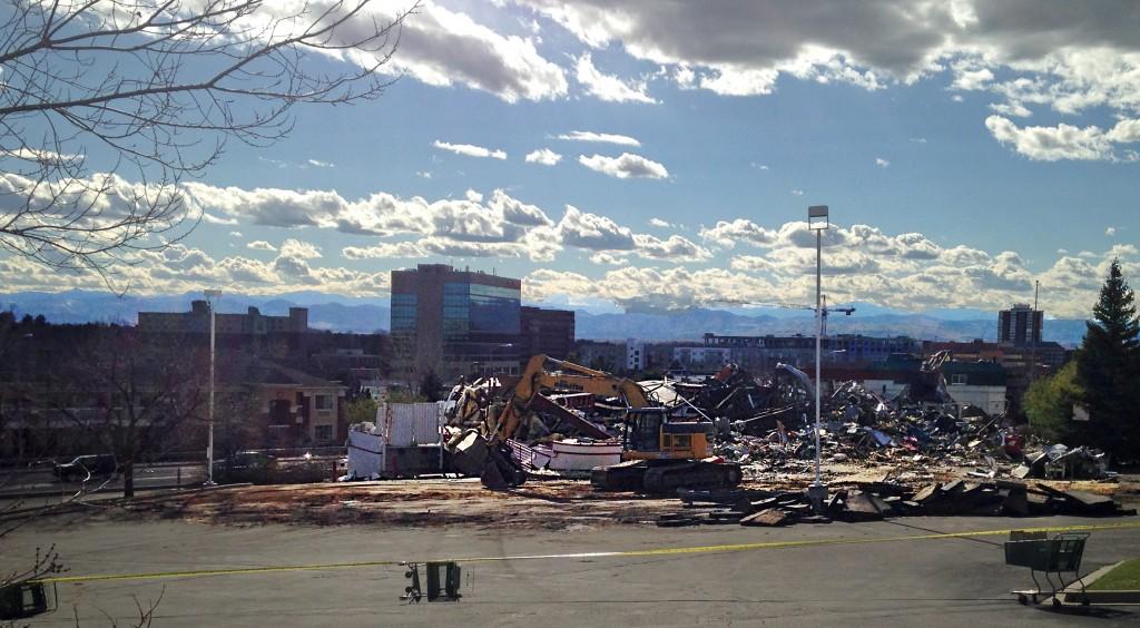 The Gunther Toody's building was torn down last week. Photo by Aaron Kremer.