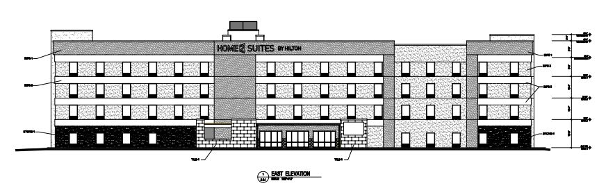 New hotel plans call for more than 100 rooms near the airport. Image from Denver city plan submissions.