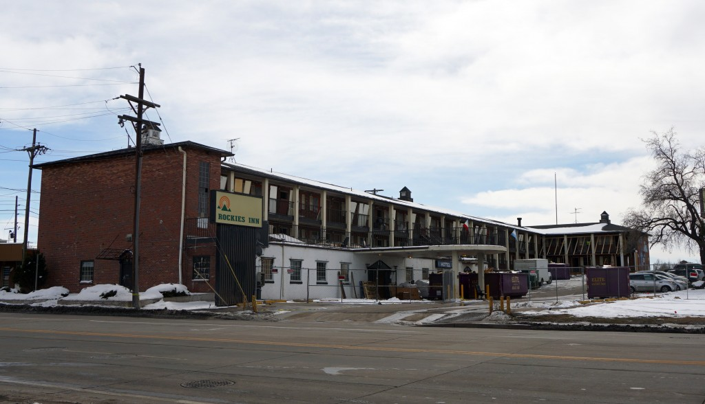 The new Greenbox facility will replace the Rockies Inn at 4760 E. Evans Ave. Photos by Burl Rolett.