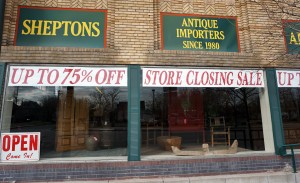 Sheptons' Broadway store will shut down at the end of the month.