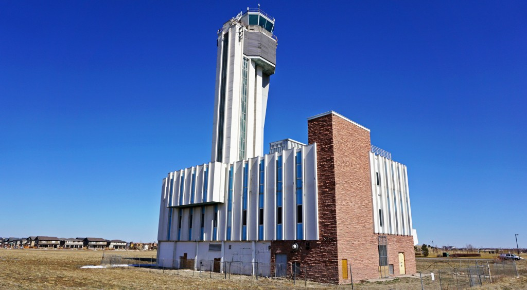 The former Stapleton Airport air traffic center is set to be redeveloped. Photo by George Demopoulos.
