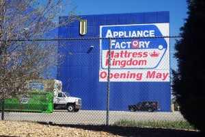 Appliance Factory plans to open in the new space next month and will close a current store and warehouse.