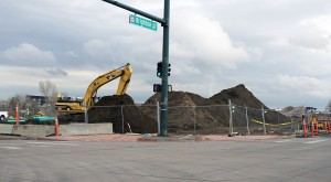 Construction crews are digging in to the site at Brighton Boulevard and