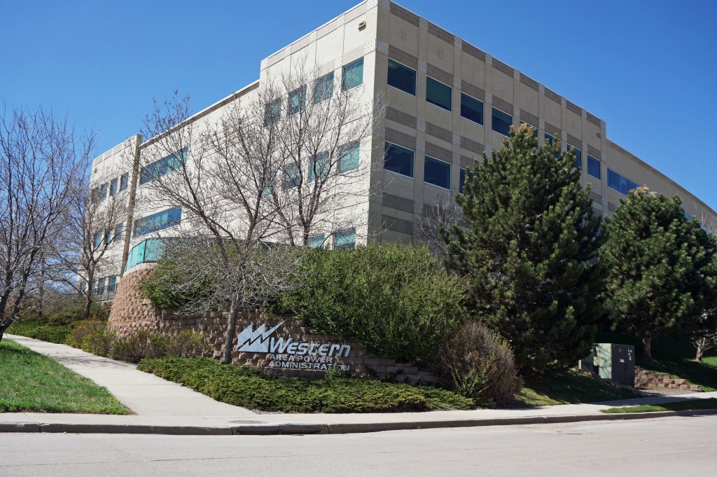 A building in use by a governmental energy group has changed hands. Photo by Burl Rolett.