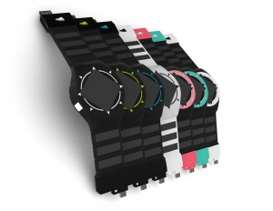 One end of the watch bands acts as a phone charger and the other can plug into USB ports. Image courtesy of Hemera.
