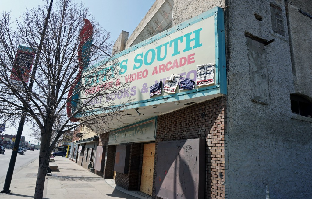 The former Kitty's South space, vacant for about eight years, has been put up for sale. Photos by Burl Rolett.