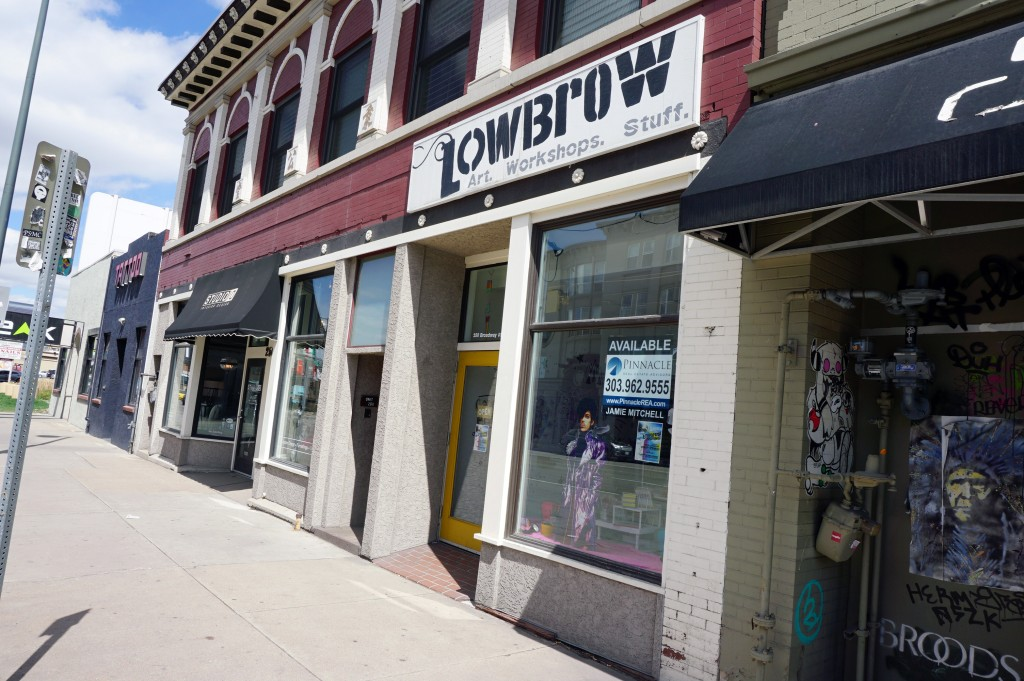 LowBrow art gallery and shop is leaving its Broadway space for a larger location.  Photos by Burl Rolett.