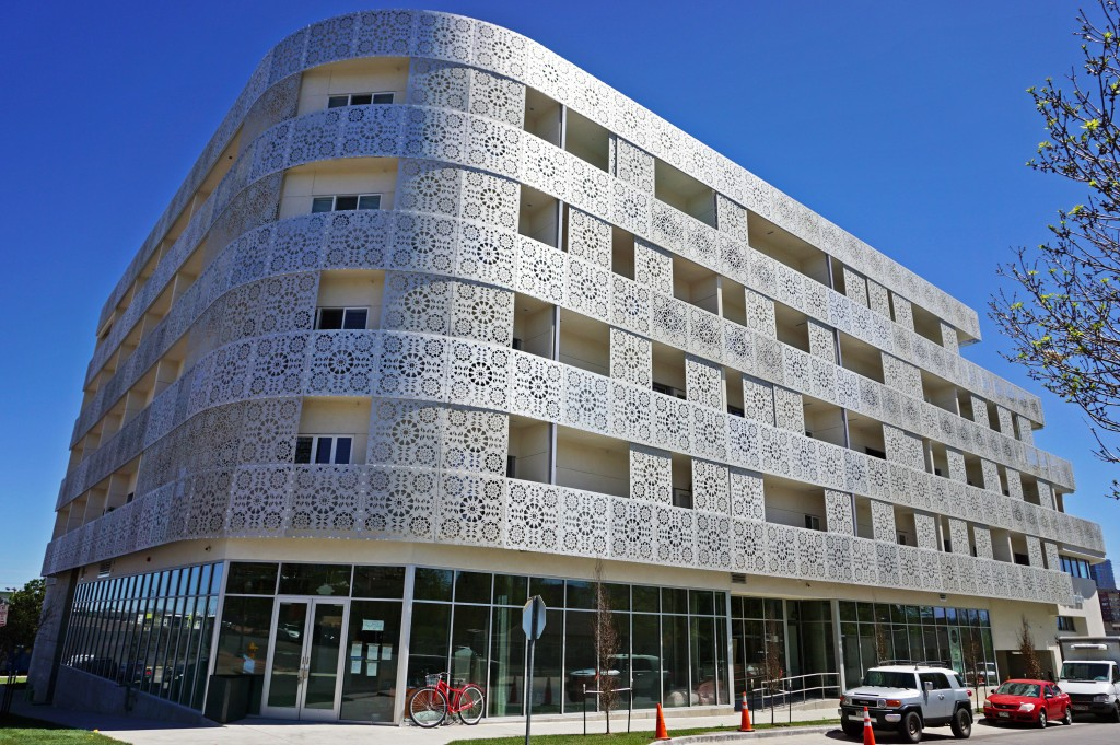 A pop-up furniture show will briefly occupy the new Lumina apartment building. Photos by George Demopoulos.