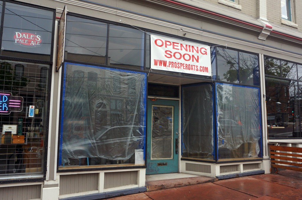 A new breakfast concept is opening on 15th Street. Photo by Burl Rolett.