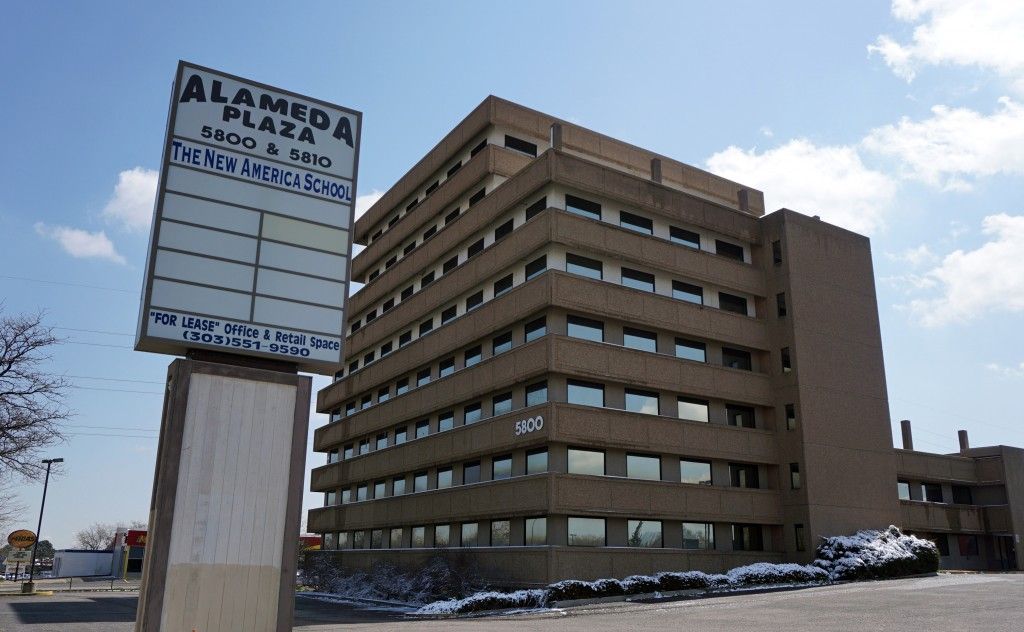 A vacant Alameda Drive office building is set for an apartment conversion. Photos by Burl Rolett.