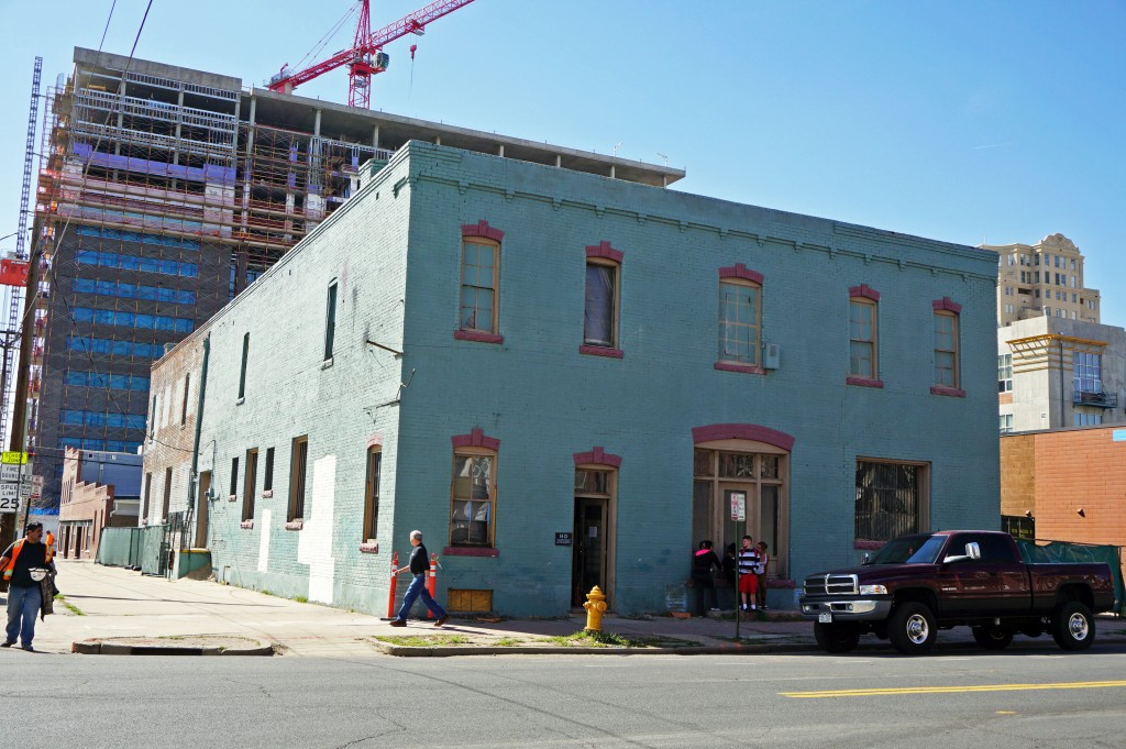 A shared office space is converting an old electronics store in Golden Triangle. Photos by Burl Rolett.