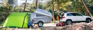 Let's Go Aero products include trailers, campers and cargo and bike carriers.