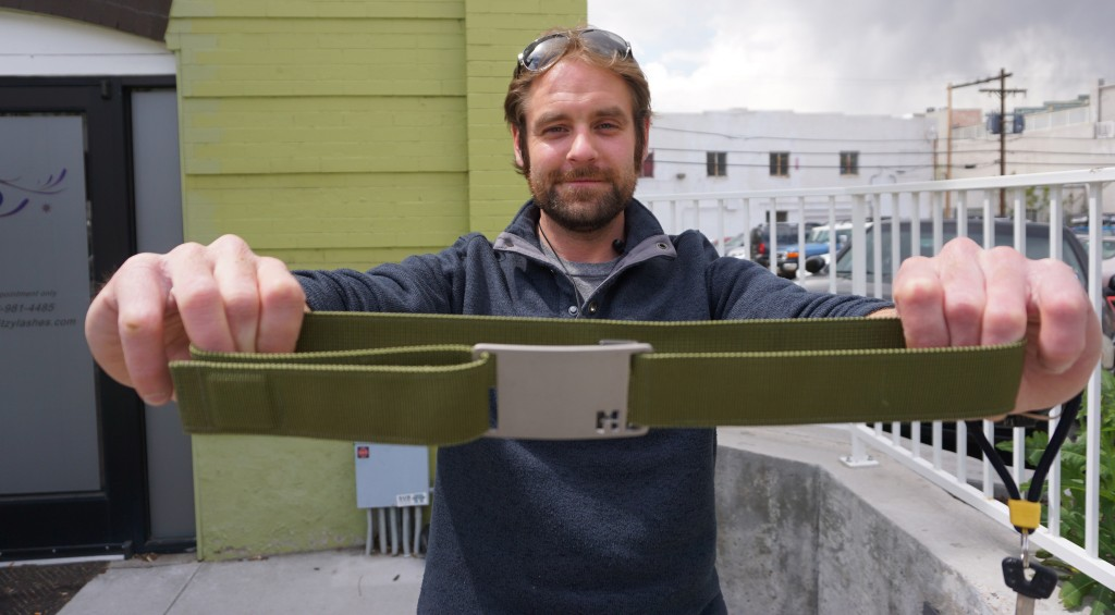 Devin O'Neill is launching a fundraising campaign this week for his magnetic belt startup. Photo by George Demopoulos.