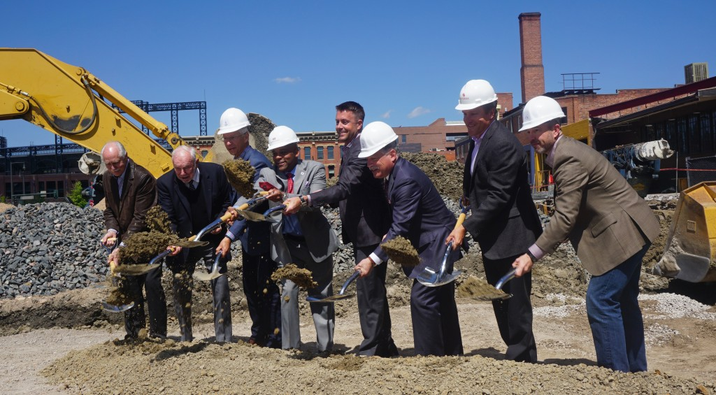The Z Block development ceremoniously kicks off construction on Monday. Photos by Burl Rolett.