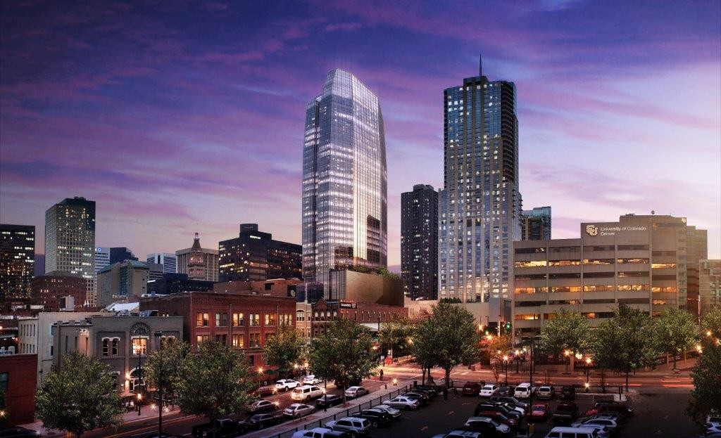 A new office tower project will climb up 40 stories downtown. Rendering courtesy of Hines.