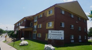 RMC's Townview apartment complex will be demolished to make way for the 95-unit building. Photo by Burl Rolett.