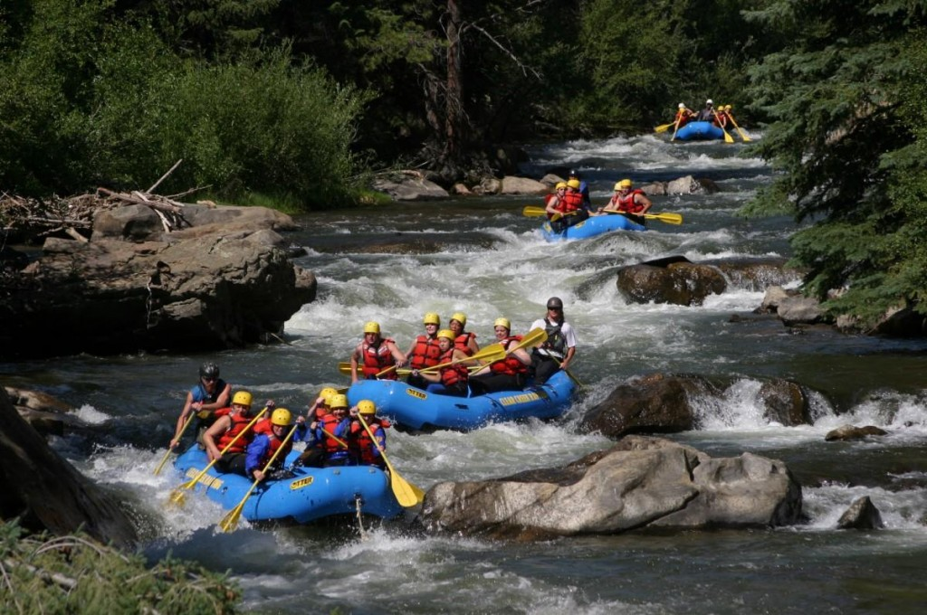 Rafters head down Clear Creek River. Photo courtesy of CROA.