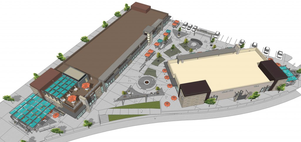 A new shopping center is planned for Stapleton next to an upcoming King Soopers. Images courtesy of City Street Investors.
