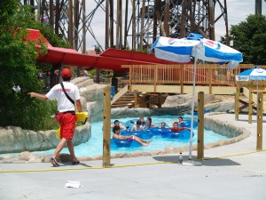 The water park includes seven slides along with other water rides and attractions.
