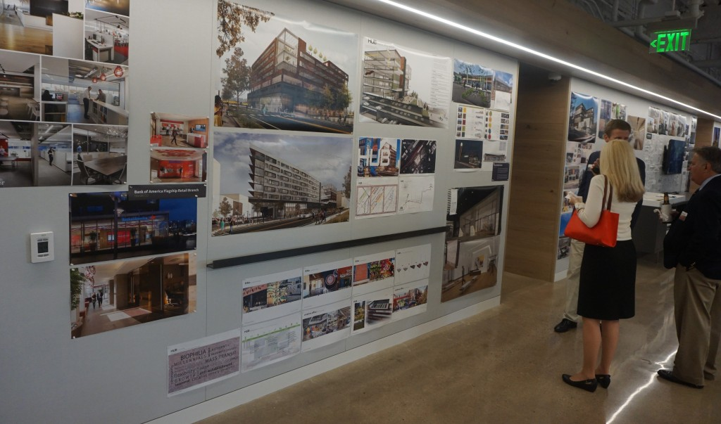 Gensler put its new office on display at a Thursday event. Photos by Burl Rolett.