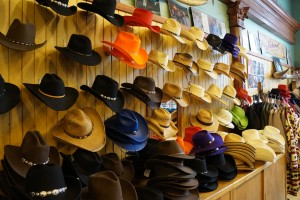 Rockmount's walls are lined with cowboy hats and boots.