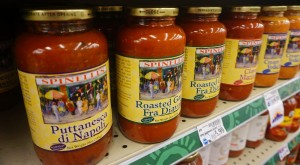 King Soopers currently sells Spinelli's sauce for about $6 or $7.