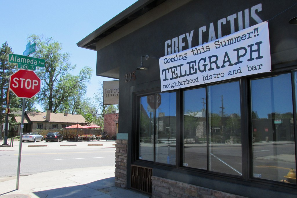 A new restaurant concept will replace the short-lived Grey Cactus Cocina y Bar. Photos by Katherine Blunt.