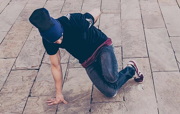 A break dancer wears a BBoy beanie. Photo courtesy of Generation BBoy.