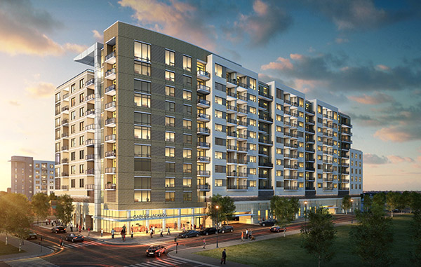 A developer is expanding a Cherry Creek apartment project. Rendering courtesy of ARA.
