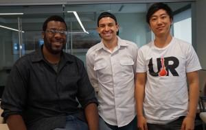 From left: My First Startup volunteer teachers Kelyn Lanier, Steven Silva and Jon Kim.
