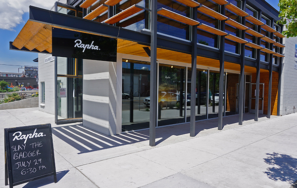 A temporary Rapha store has popped up on Larimer Street. Photos by George Demopoulos.